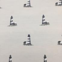 3 1/4 Yards Nautical Novelty  Canvas/Twill Woven  Fabric