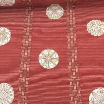 4 Yards Abstract Geometric  Print Woven  Fabric