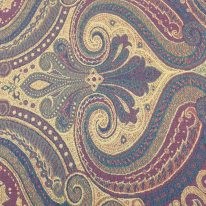 5 1/2 Yards Paisley Traditional  Embroidered Woven  Fabric