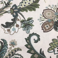 1 1/2 Yards Floral Traditional  Print Woven  Fabric