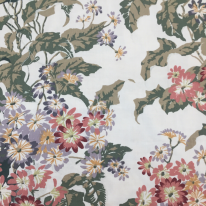 17 Yards Floral Traditional  Print Woven  Fabric
